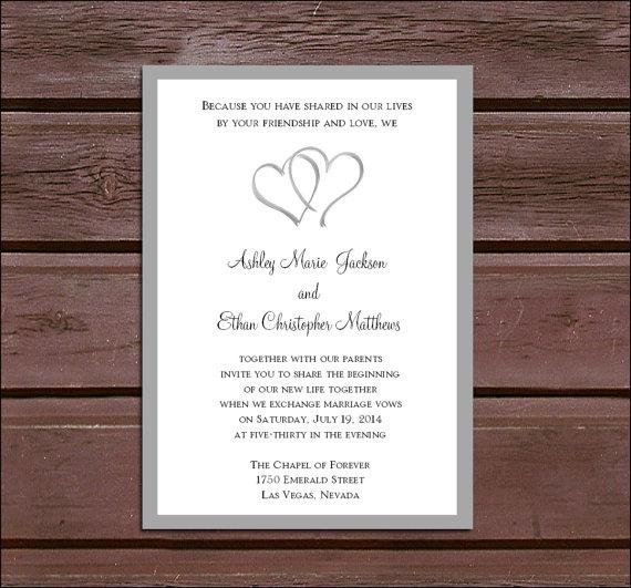 50 Hearts Wedding Invitations Rsvp S Reception