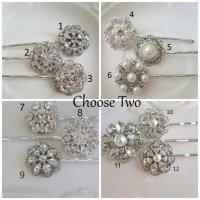 2 Bridal Hair Pins, Bridesmaids Hair, Wedding Accessories ...