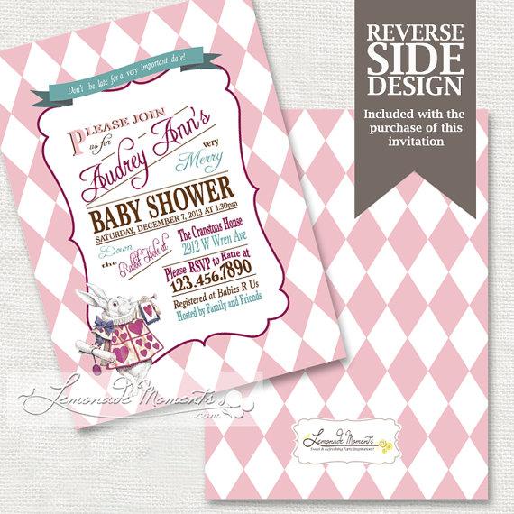 Wonderland Baby Shower Invitation