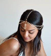 Wedding Hair Chain, Vintage Hair Tiara, Caroline Bohemian ...
