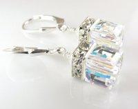 Clear Crystal Drop Earrings, Crystal Wedding Jewelry ...