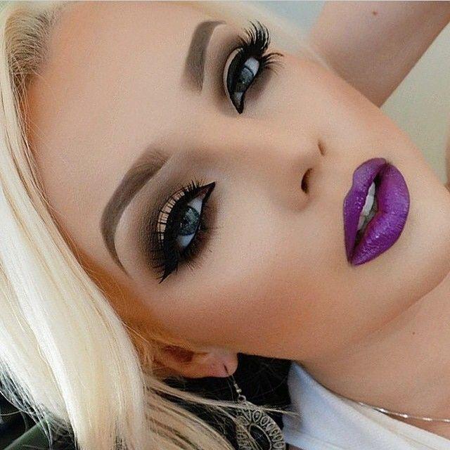 makeup purple lips 2336635