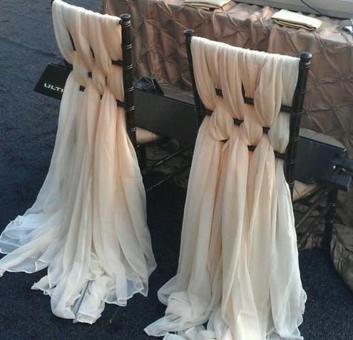 wedding chair covers for bride and groom french dining chairs melbourne weaved chiffon sash available rent