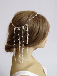 Wedding Crochet Headband Pearl Hairband Weddings Hair ...