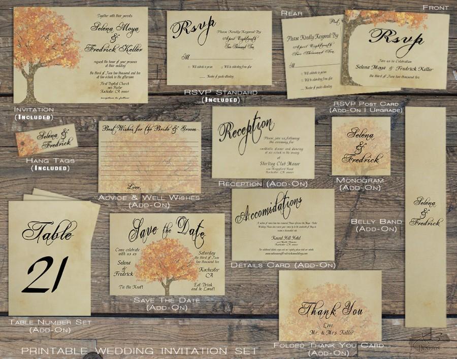 Printable Fall Wedding Invitations PaperInvite