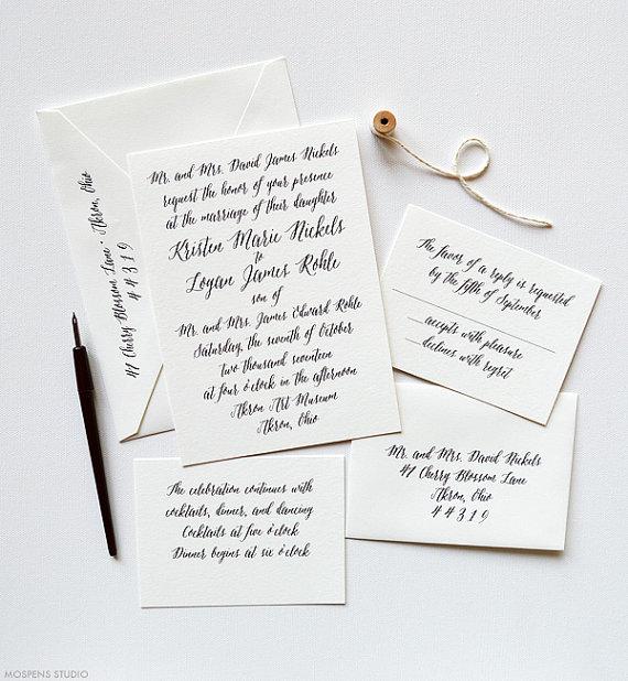 Classic Wedding Invitations, Letterpress Wedding