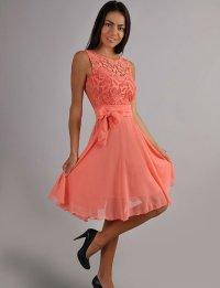 Coral Dress. Cocktail Dress. Dress Autumn. Guipure Dress ...