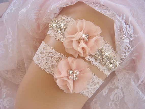 Vintage Bridal Garter Wedding Garter Set Lace Garter