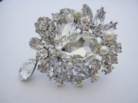 wedding hair brooch wedding pearl brooch bridal brooch