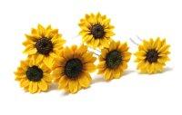 Sunflower Hairpin Set Of 6, Big Sunflower Hairpin ...