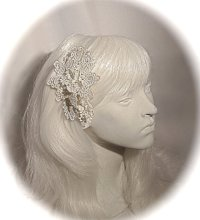 Lace Bridal Hairpiece Victorian Winter Weddings White Lace ...