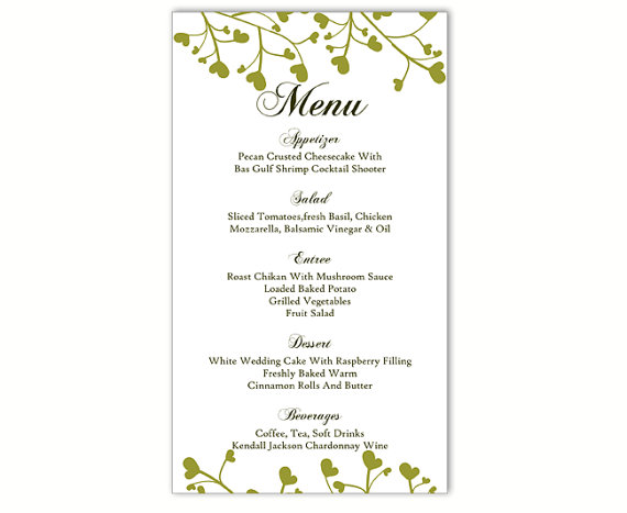 Champlain College Publishing  Cafe Menu Template Word