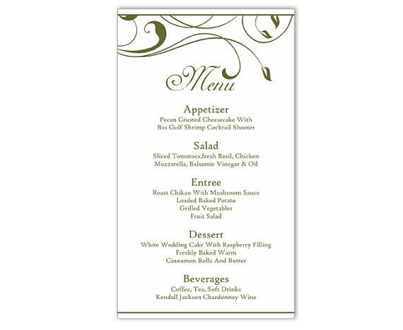 Doc Free Menu Templates Printable Free Printable Wedding – Free Menu Templates Printable
