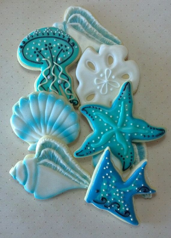 Sea Life Shell Jelly Fish Nautical Custom Decorated