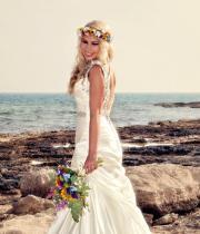 bridal flower crown colorful hair