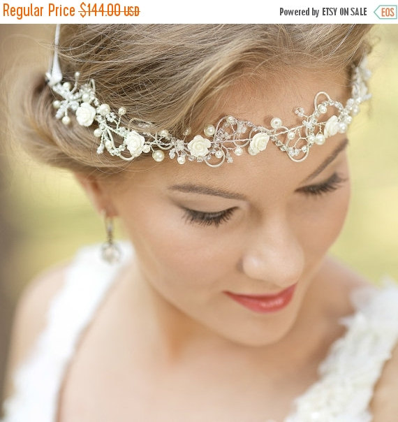 bohemian wedding headpiece bridal hair vine wedding hair accessories bridal headband flower headband bridal halo boho headpiece