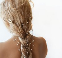 wedding hairstyles with pearls in hair wedding pearl ...