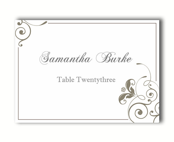 free printable table cards template. Black Bedroom Furniture Sets. Home Design Ideas