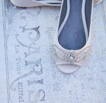 ba2704d35a47 Peep Toe Bridal Flats - imgUrl