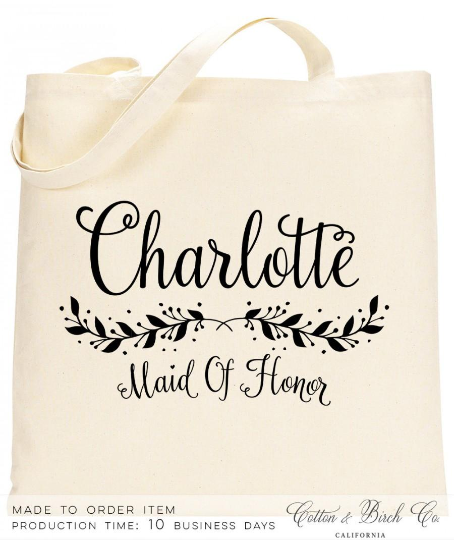 personalized bridesmaid tote personalized