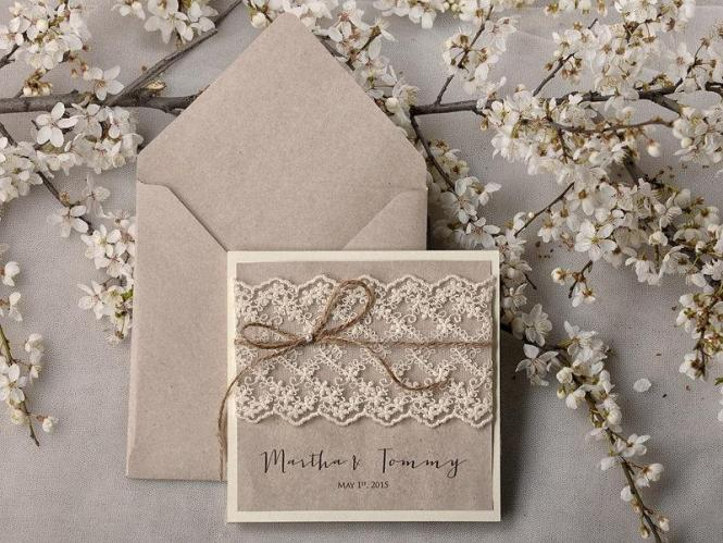 Rustic Wedding Invitations 20 Invitation Suite