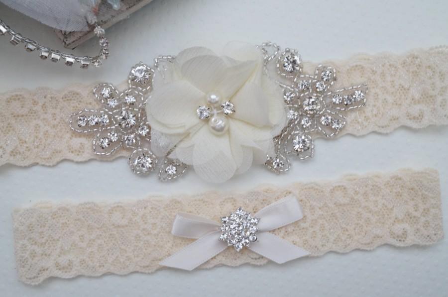 Wedding Garter Belt Bridal Garter Set Rustic Bridal Garter