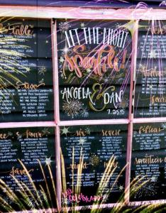 Wedding seating chart window pane sparkler themevintage recycle wood for program menu timeline welcome also rh weddbook