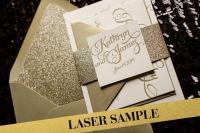 Gold Wedding Invitation, Gold Glitter Wedding Invite ...