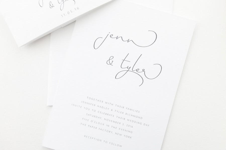 Jennifer Wedding Invitation Sample / Simple Wedding
