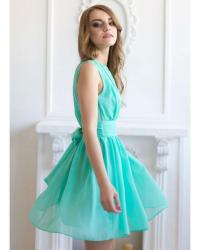 Cocktail Dress Aqua Mint Short Dress Bridesmaid Flared ...