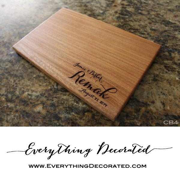 engraved cutting board personalized