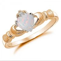 Claddagh Ring Rose Gold 925 Sterling Silver 0.75 Carat ...