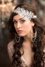 roaring 20s flapper headband silver