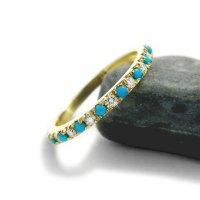 Turquoise Engagement Ring, Diamond And Turquoise Wedding ...