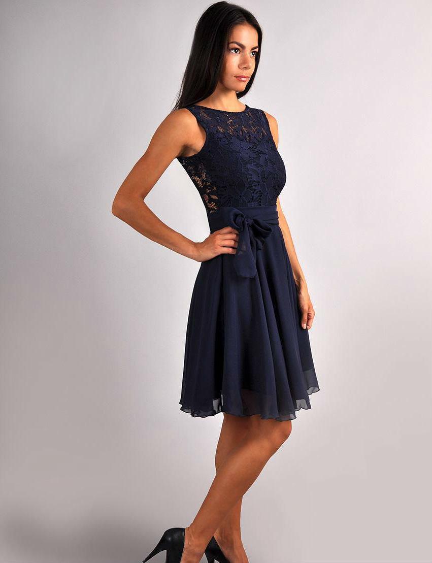 Bridesmaid Navy Blue Dress.Navy Blue Wedding.Sleeveless