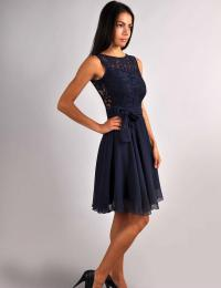 Bridesmaid Navy Blue Dress.Navy Blue Wedding.Sleeveless