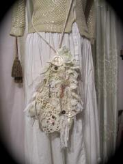 bridal reticule pouch shabby