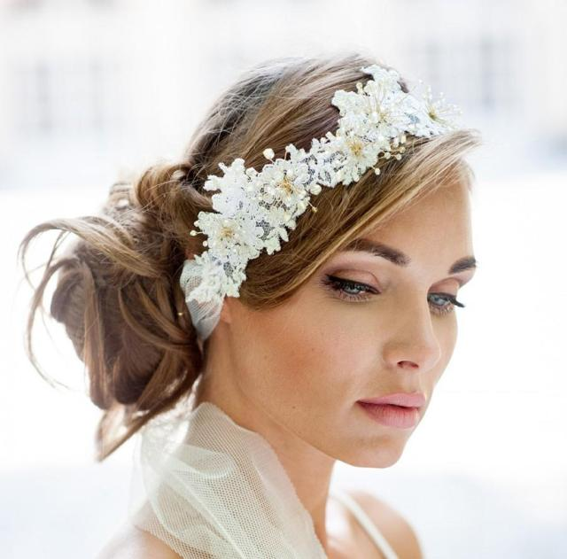 wedding lace halo. lace hair vine wrap. bohemian wedding