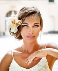 Bandeau Style Birdcage Veil. 2016 Bride Hair Jewelry