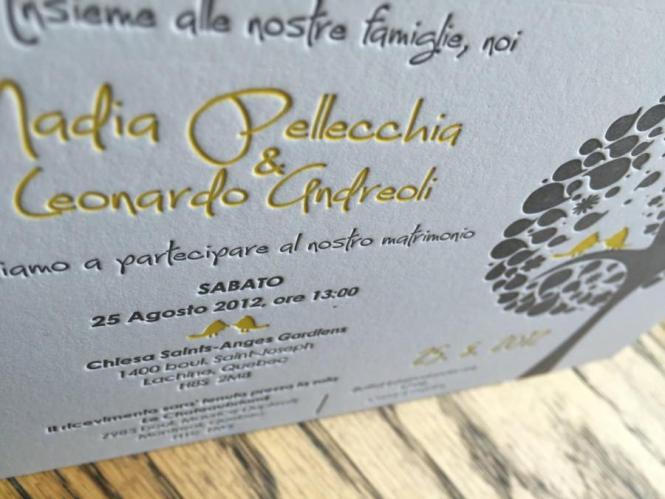 Letterpress Wedding Invitation Custom