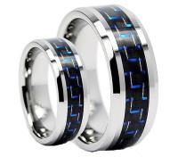 Tungsten Wedding Band,Wedding Band Set Matching,Blue ...