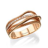 Art Deco Ring Rose Gold Engagement Ring Diamond Ring Art ...