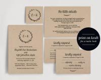 Wedding Invitation Printable, Rustic Wedding Invitation ...