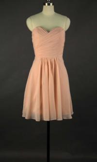 Cute Peach Short Sweetheart Bridesmaid Dresses KSP314 ...