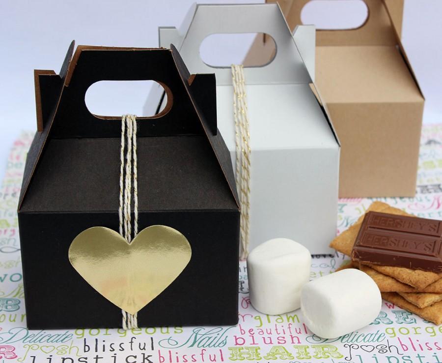 100 Mini Gable Gift Boxes, Party Favor Boxes, Wedding
