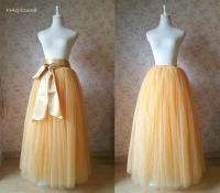 Full Floor Length Tulle Skirt. Apricot Bridesmaid Tutus ...