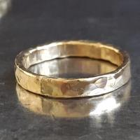 14k Gold Hammered Band - Wedding Gold Band Ring - Bridal ...