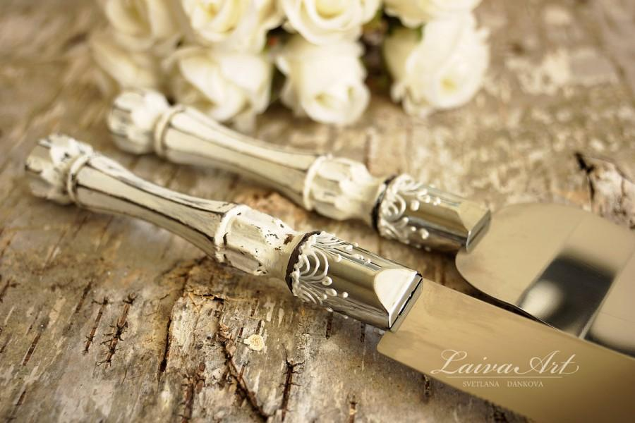 Rustic Wedding Cake Server Set & Knife Cake Cutting Set