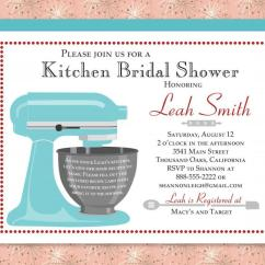 Kitchen Bridal Shower Bar Height Benches Custom Invitation Recipe Card Digital Download Printable With Stand Mixer Red Blue Aqua Purple And More
