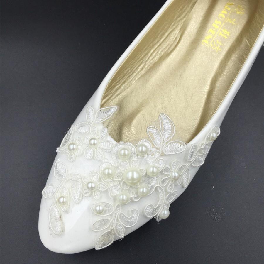 Vintage Lace Wedding ShoesBridal Ballet ShoesLace Flats
